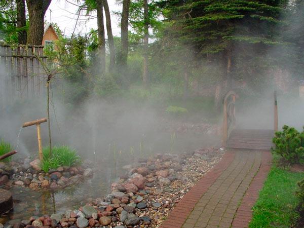 Туманообразователь в ландшафтном дизайне